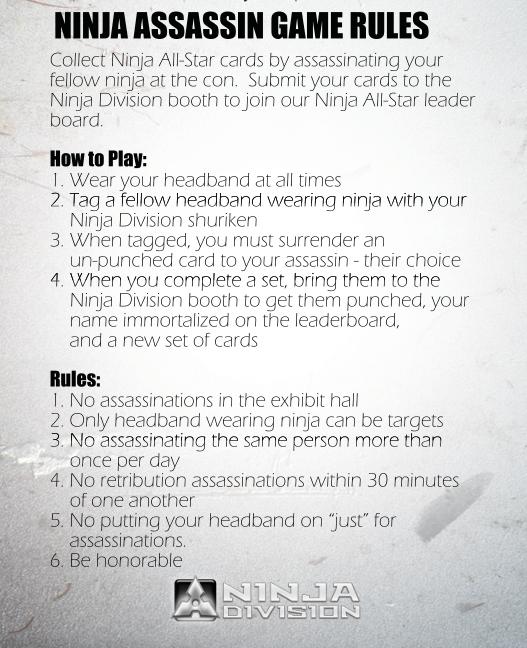 ninja game rules