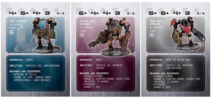 Despiece y revisión del Strider (Plaga / Rebeldes / Enforcers) Mantic-games-deadzone-incursion-strider-variants